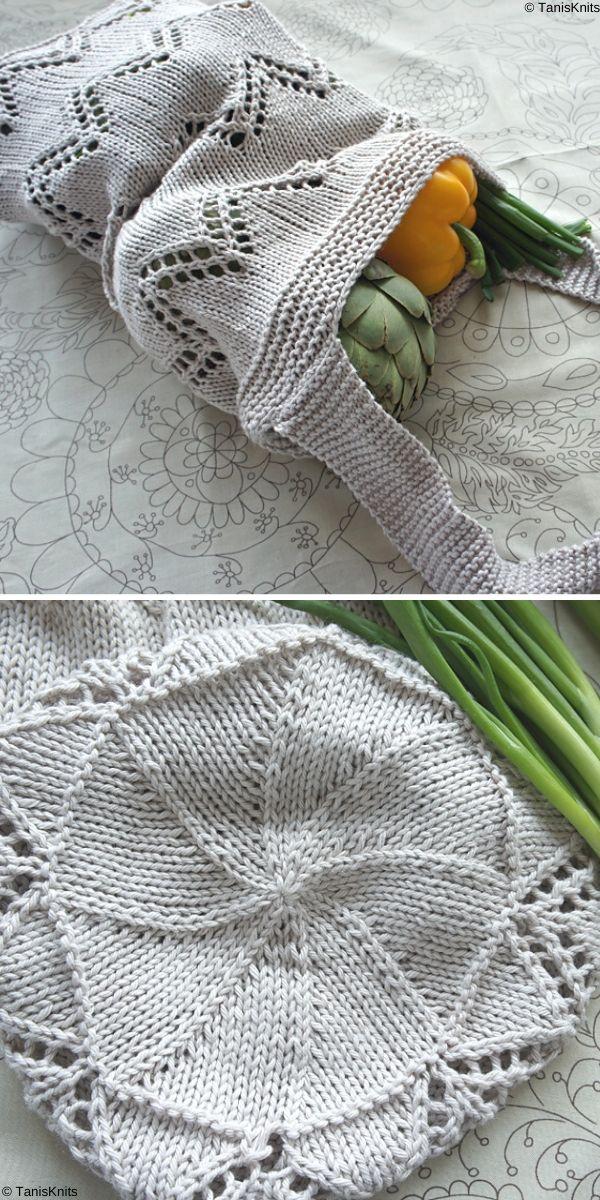 Eastern Market Tote Free Knitting Pattern