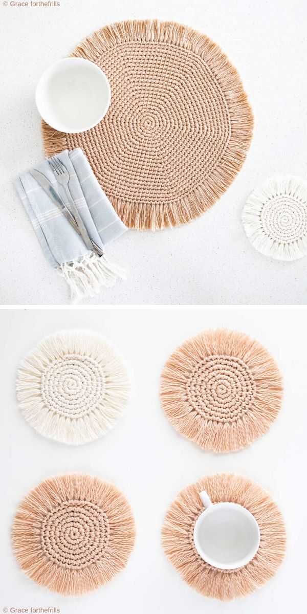 Easy Boho Placemats Free Crochet Pattern