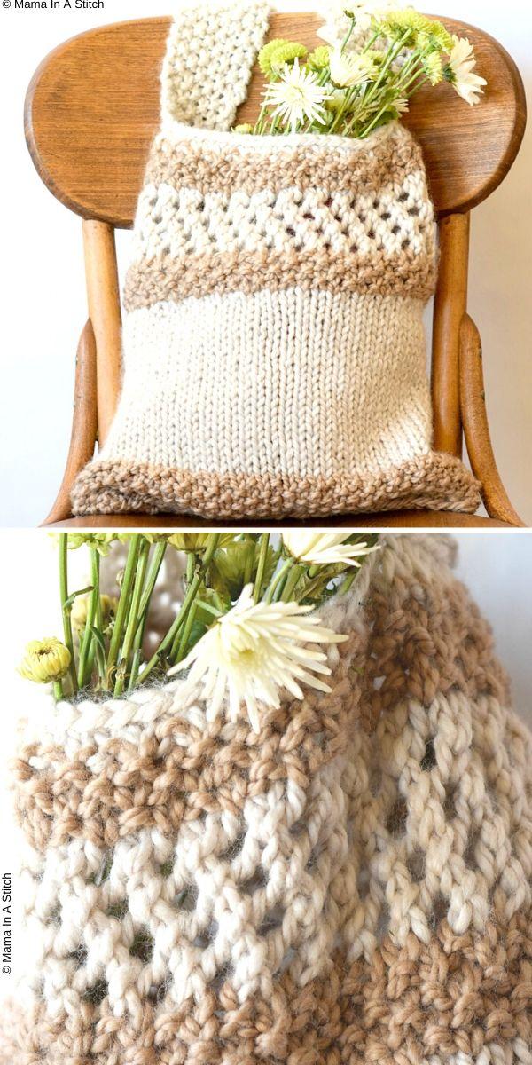 Easy Farmers Market Tote Free Knitting Pattern