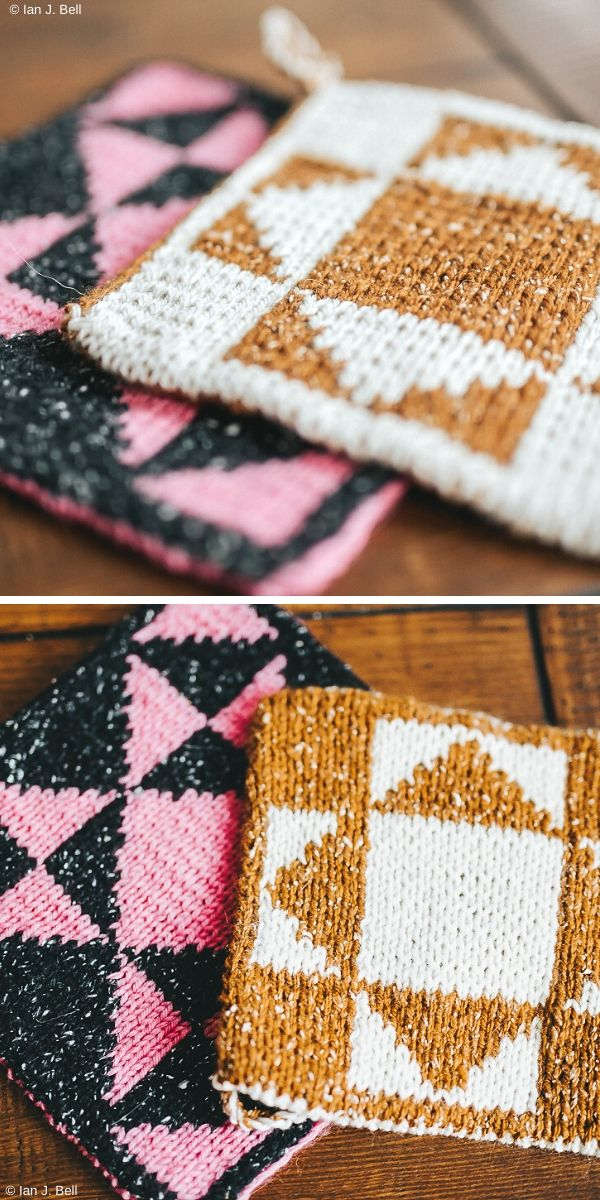 Folksy Hot Pads Free Knitting Pattern