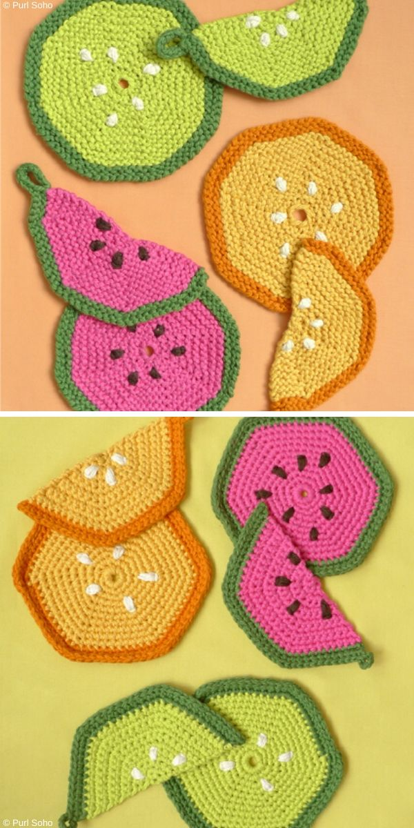 Fruity Trivets & Potholders Free Knitting Pattern