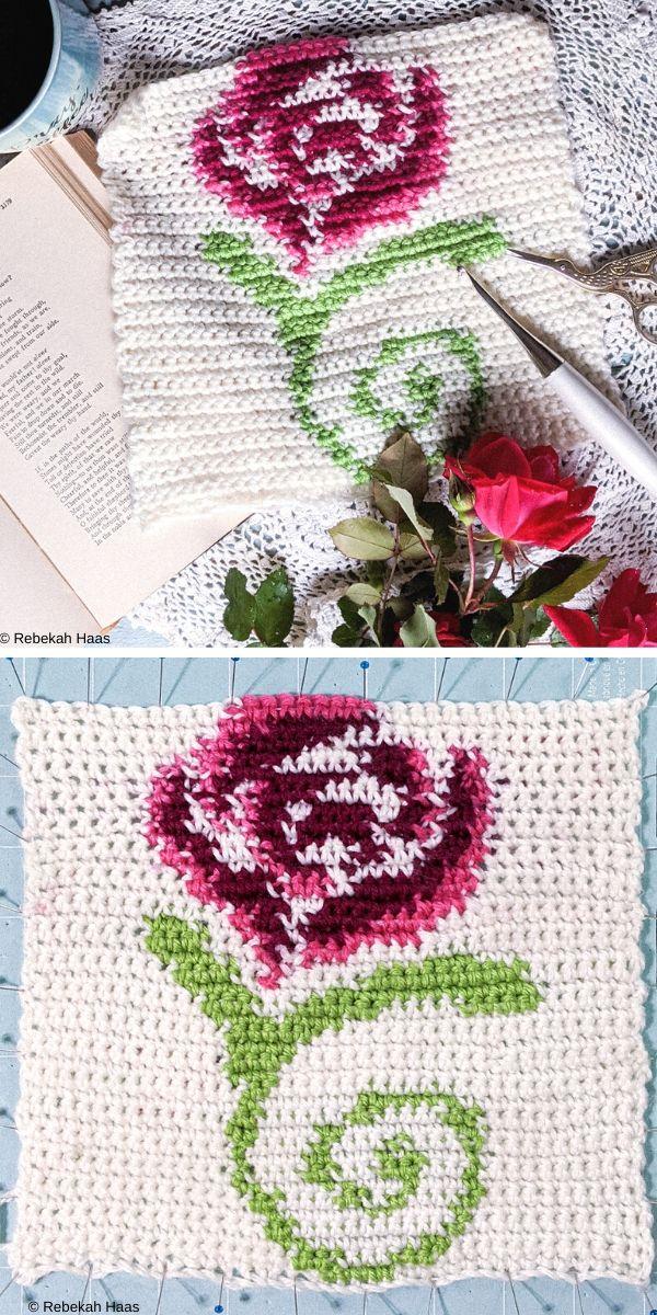 Grandiflora Tapestry Square Free Crochet Pattern