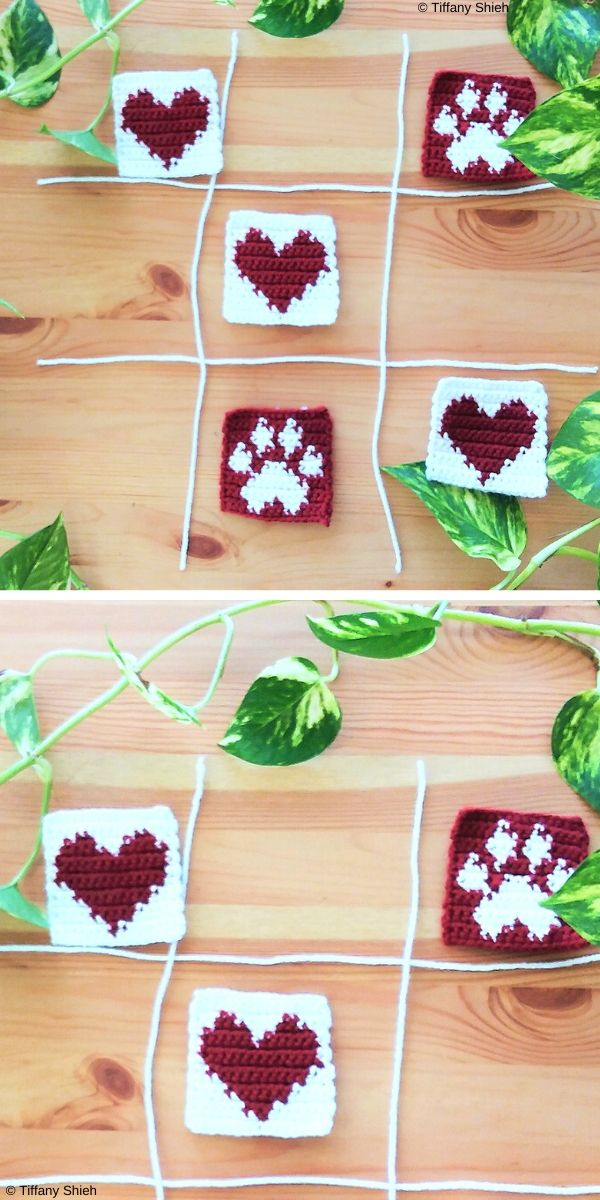 Hearts and Paws Free Crochet Pattern