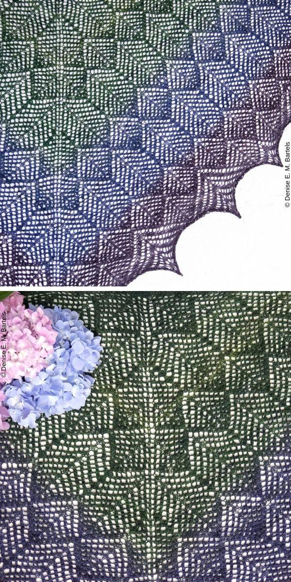 Hummingbird Feathers ShawlFree Knit Pattern