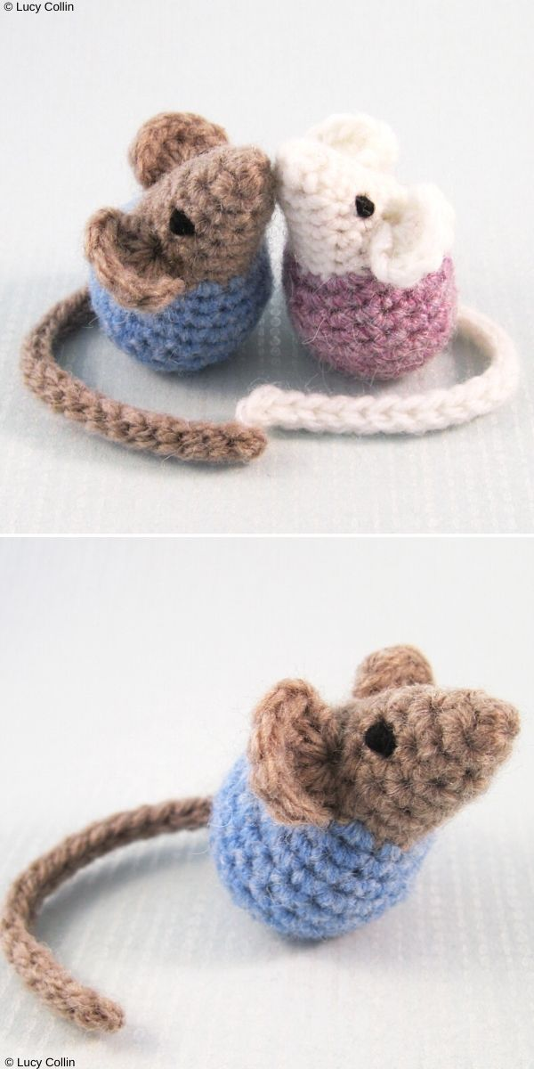 Little Kissing Mice Amigurumi Free Crochet Pattern