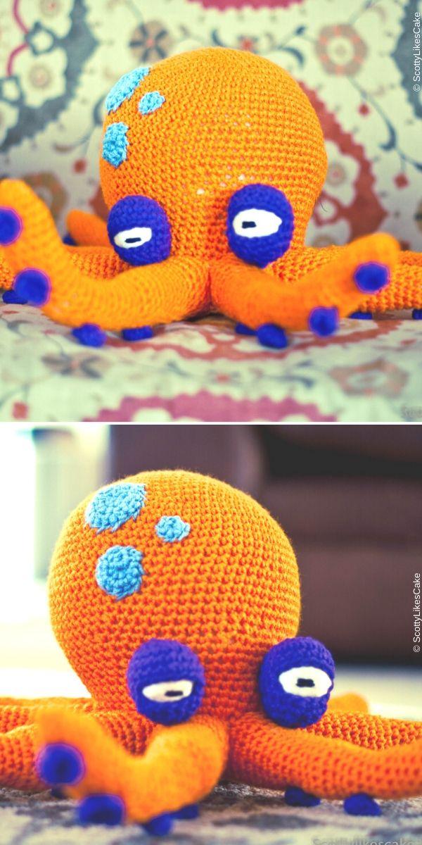 Liver Spot Lloyd the Amigurumi Octopus Pattern Free Crochet Pattern