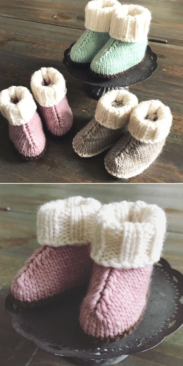 Pastel Baby Booties
