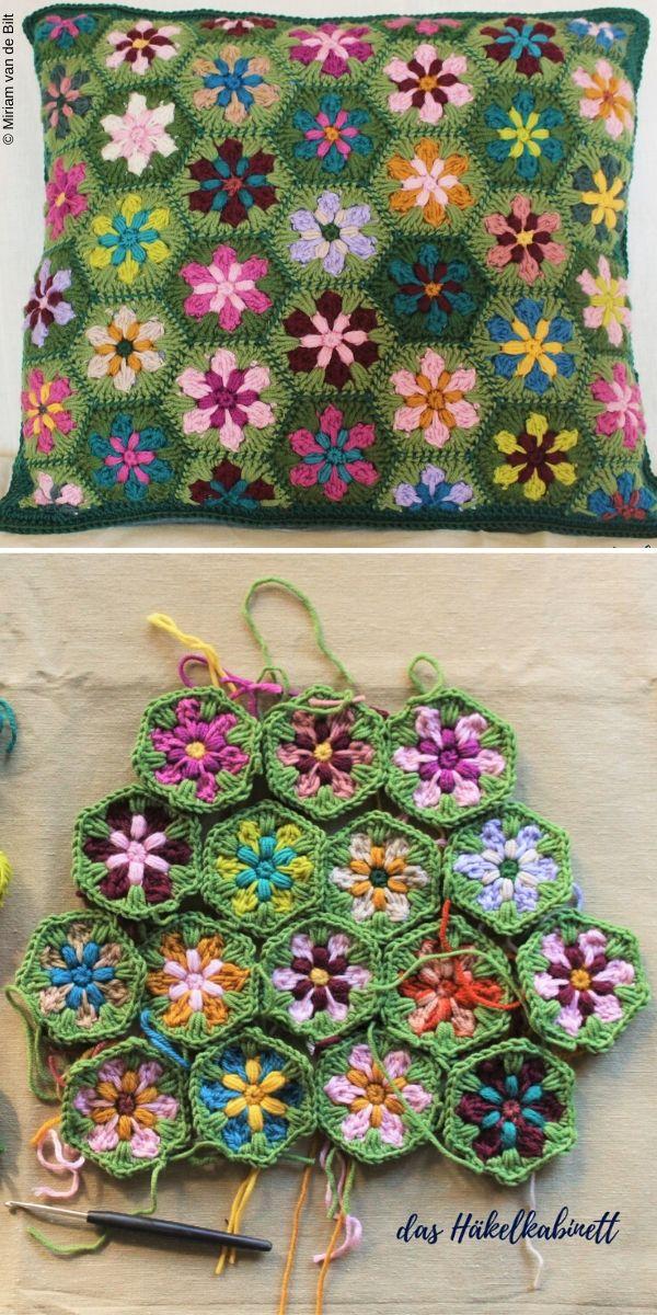 Millefiori Cushion Free Crochet Pattern