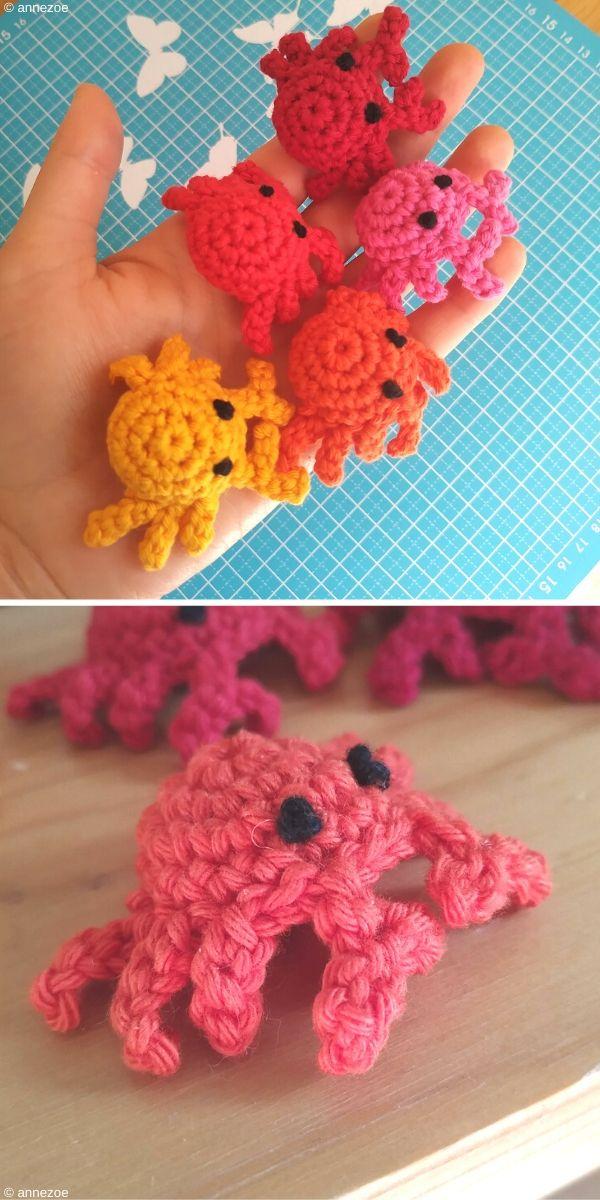 Mini Crab Free Crochet Pattern