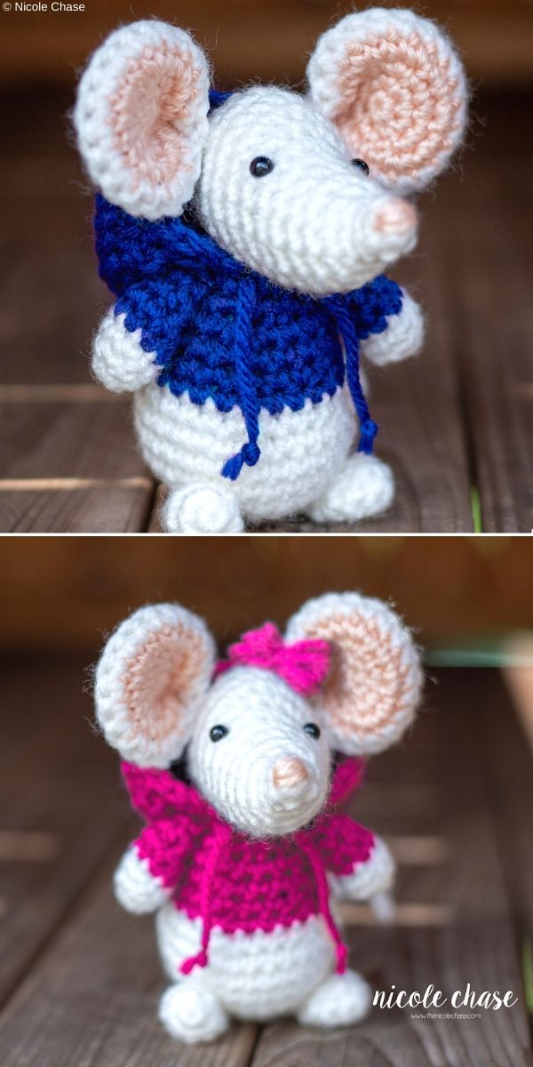Mitzy and Mavis Mouse Free Crochet Pattern