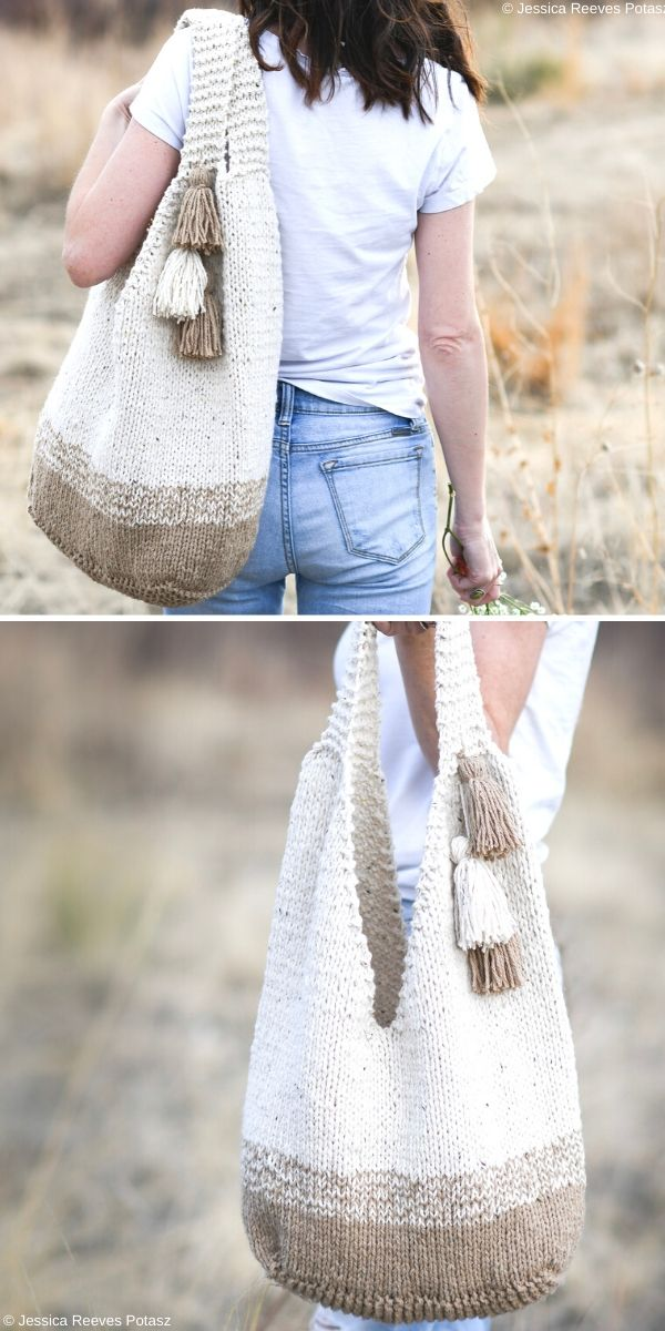 Mohave Slouchy Tote Bag Free Knitting Pattern