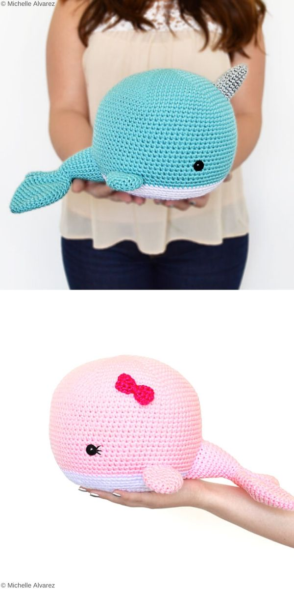 Neil the Narwhal and Wendy the Whale Free Crochet Pattern
