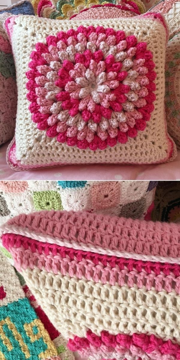 Pink Ombre Pops Pillow