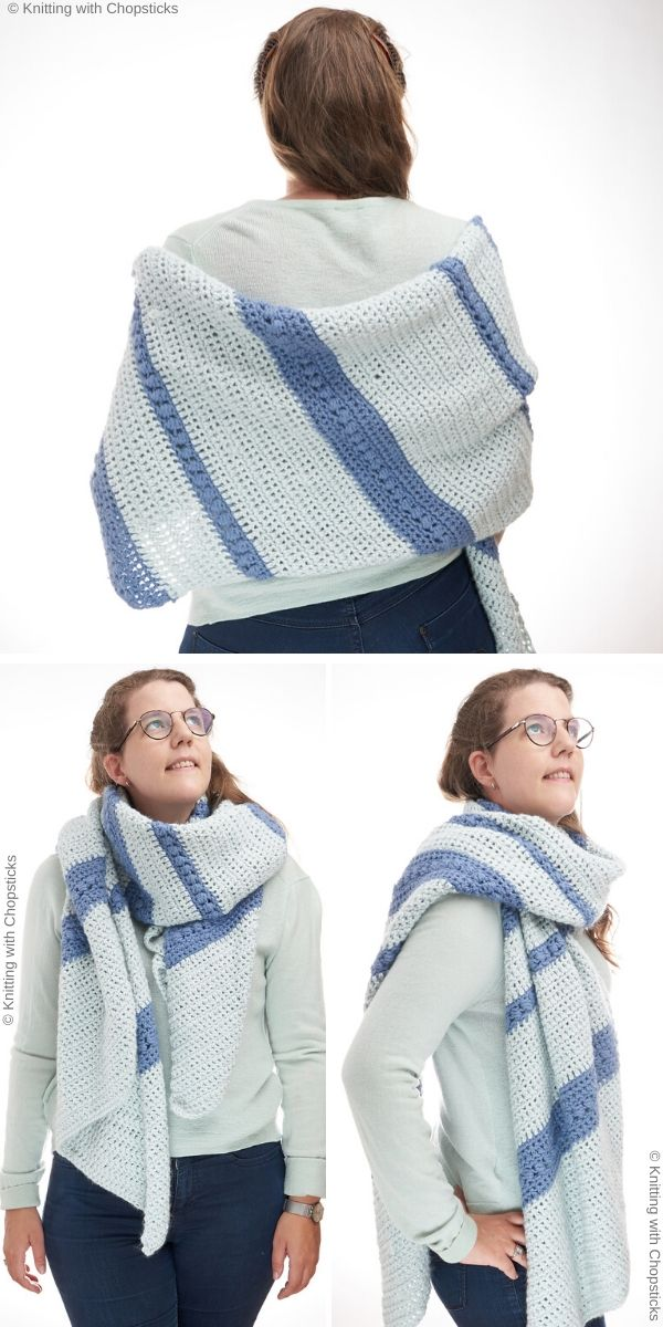 Poudreuse Wrap Free Crochet Pattern