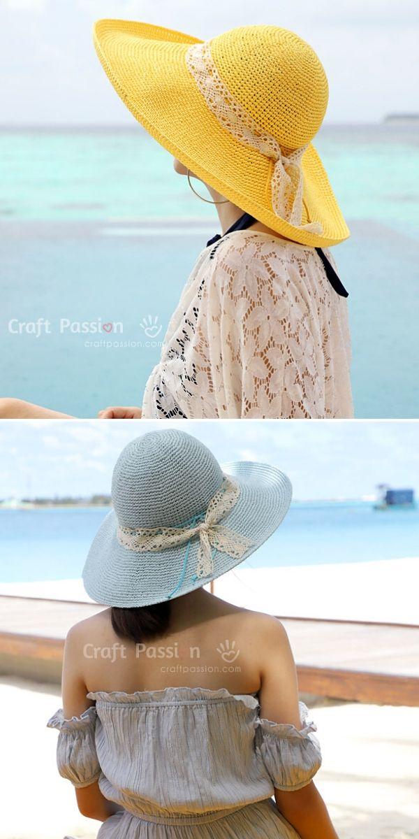 Raffia Beach Hat Free Crochet Pattern