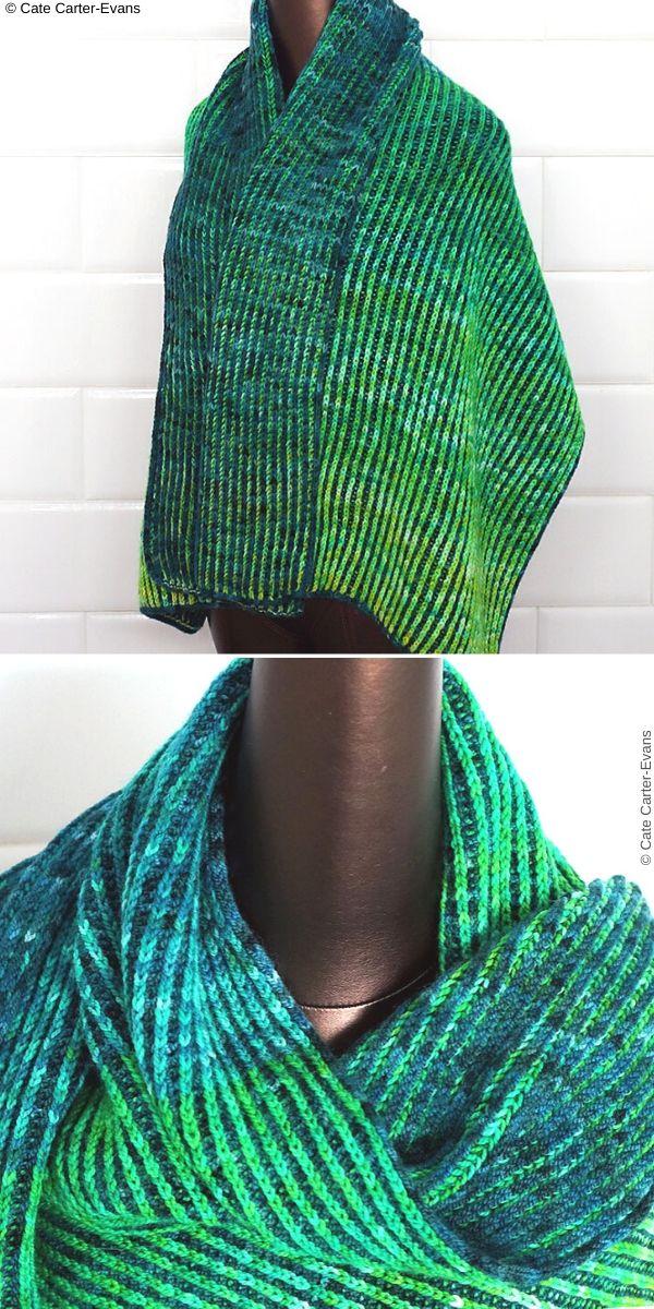 Rothko Brioche Wrap Free Knitting Pattern