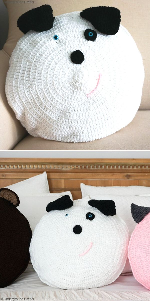 Spot Dog Pillow Pal Free Crochet Pattern