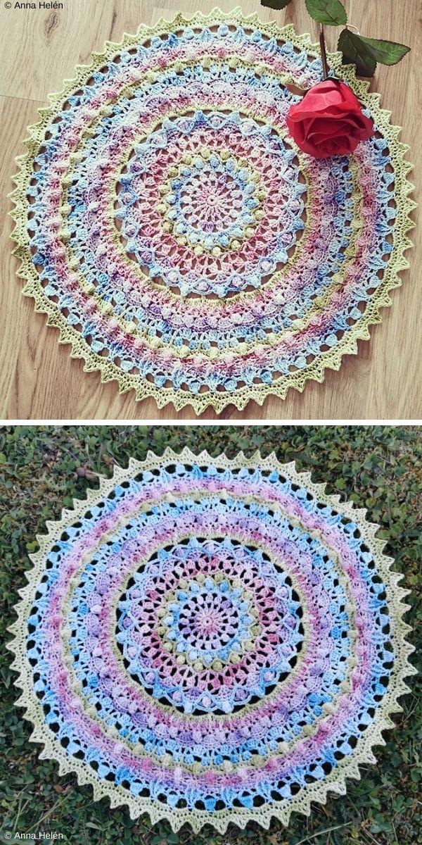 Spring Pop Mandala Free Crochet Pattern
