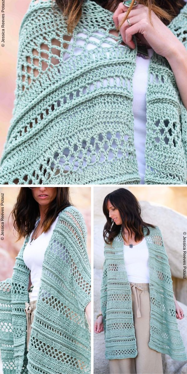 Summertide Wrap Free Crochet Pattern
