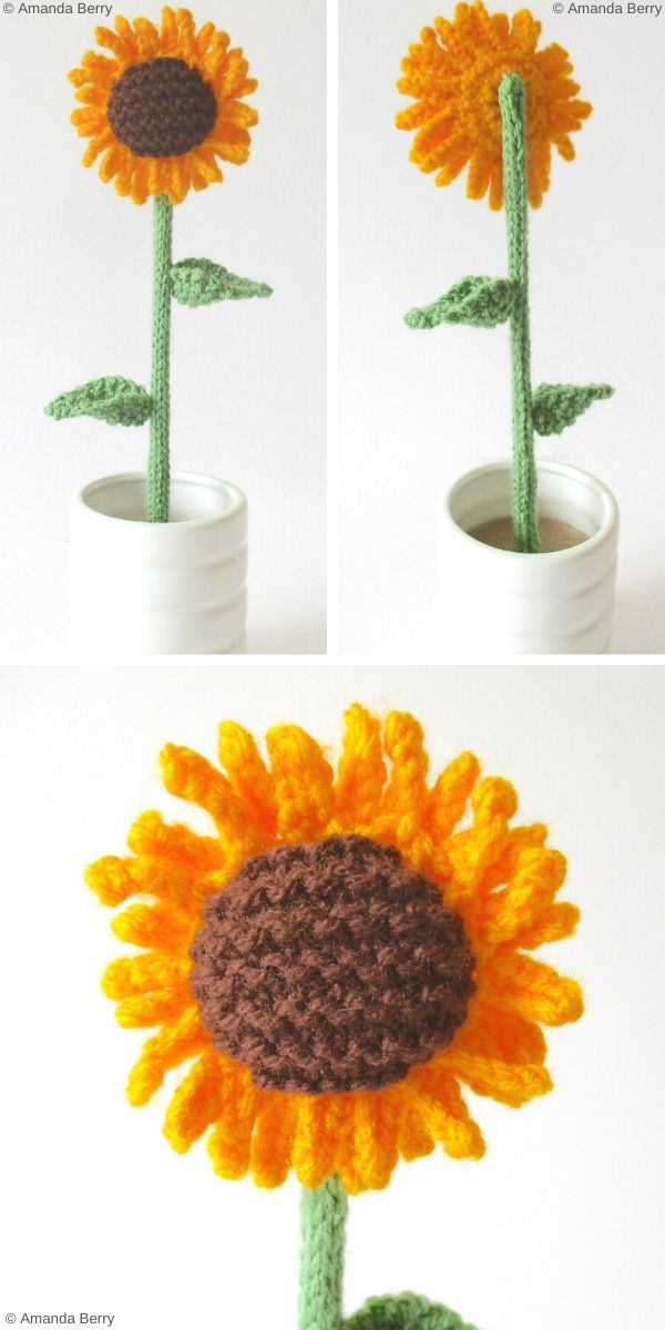 Sunflower Free Knitting Pattern