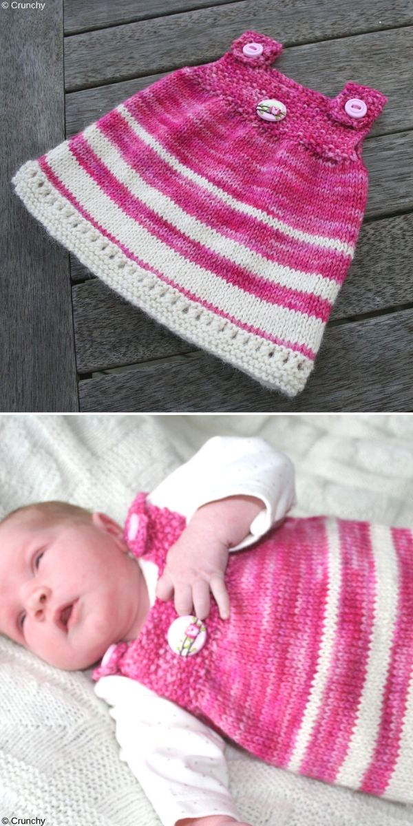 Super Simple Baby Tunic Free Knitting Pattern