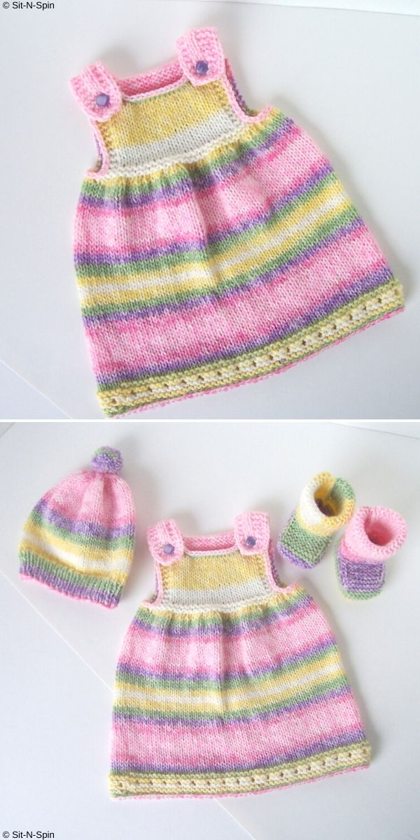 Super Simple Baby Tunic Free Knitting Pattern_2