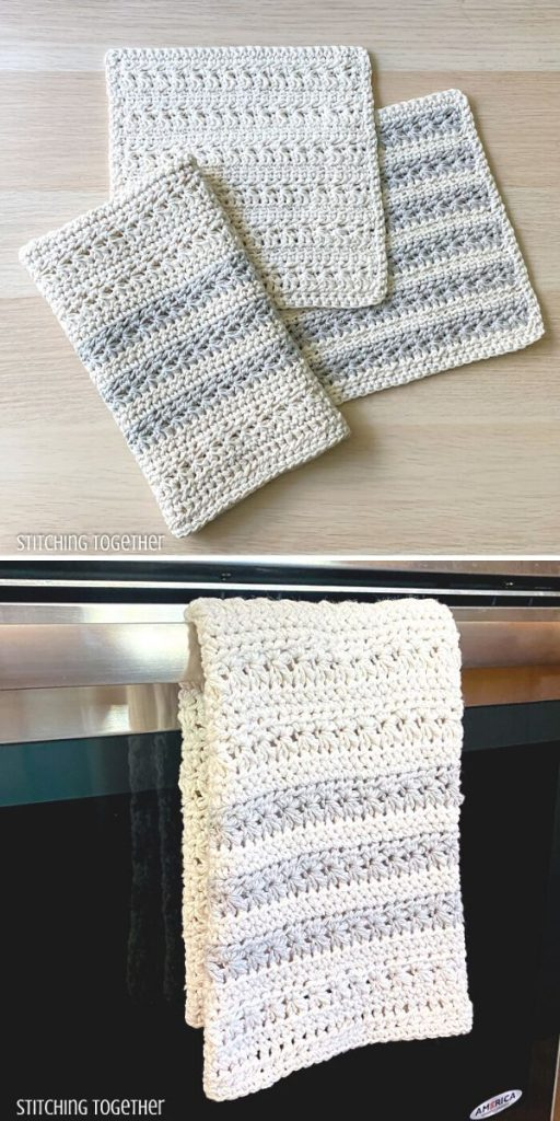 Textured Kitchen Towel Free Crochet Pattern