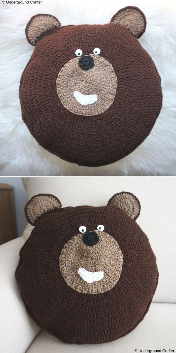 Theodore Bear Pillow Pal Free Crochet Pattern