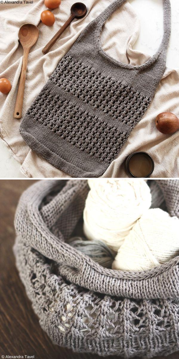Thistle Market Bag Free Knitting Pattern