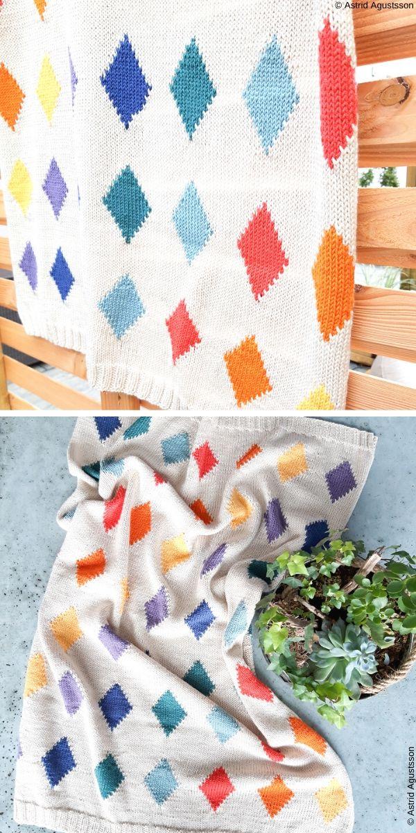 Victoria baby blanketFree Knit Pattern