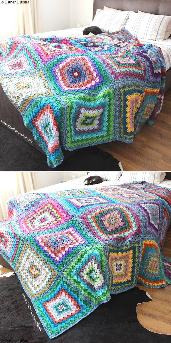Bavarian Buster Blanket Free Crochet Pattern