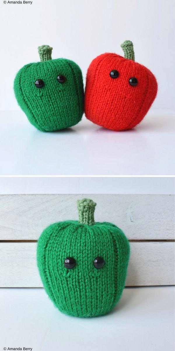 Bell Peppers Free Crochet Pattern