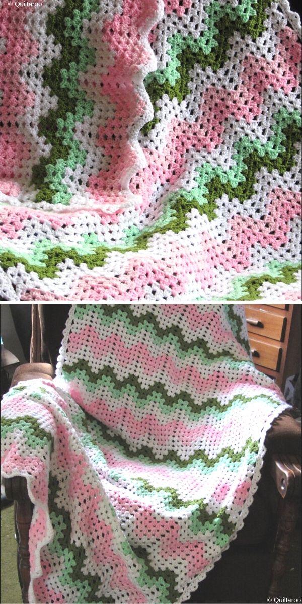 Birdlebee's Granny Ripple Free Crochet Pattern