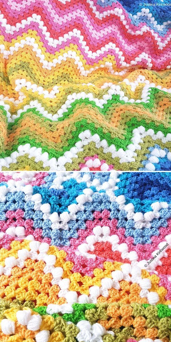 Blanket Spring Landscape Free Crochet Pattern