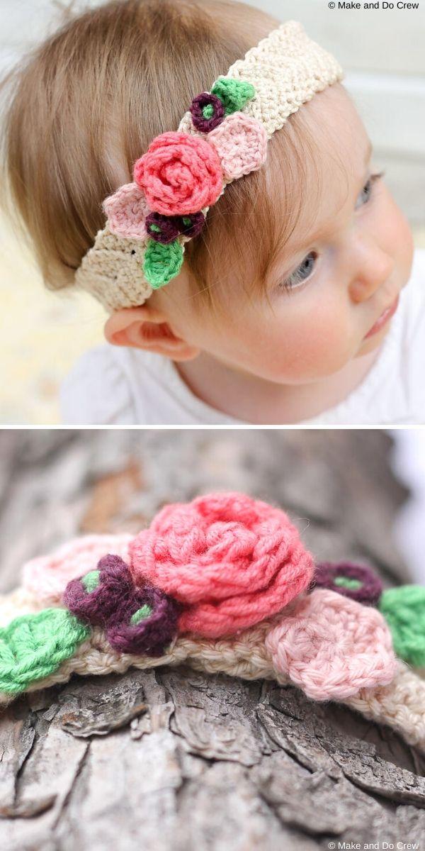 Boho Flower HeadbandFree Crochet Pattern