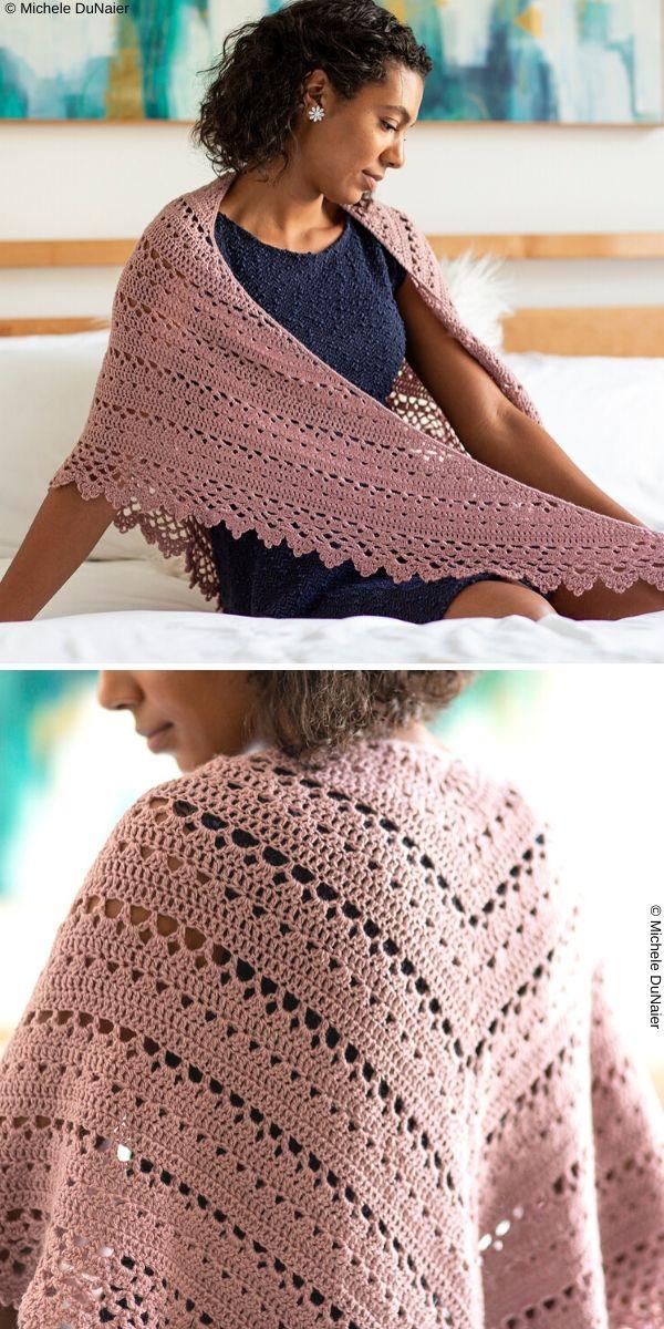 Bridesmaid Shawl Free Crochet Pattern