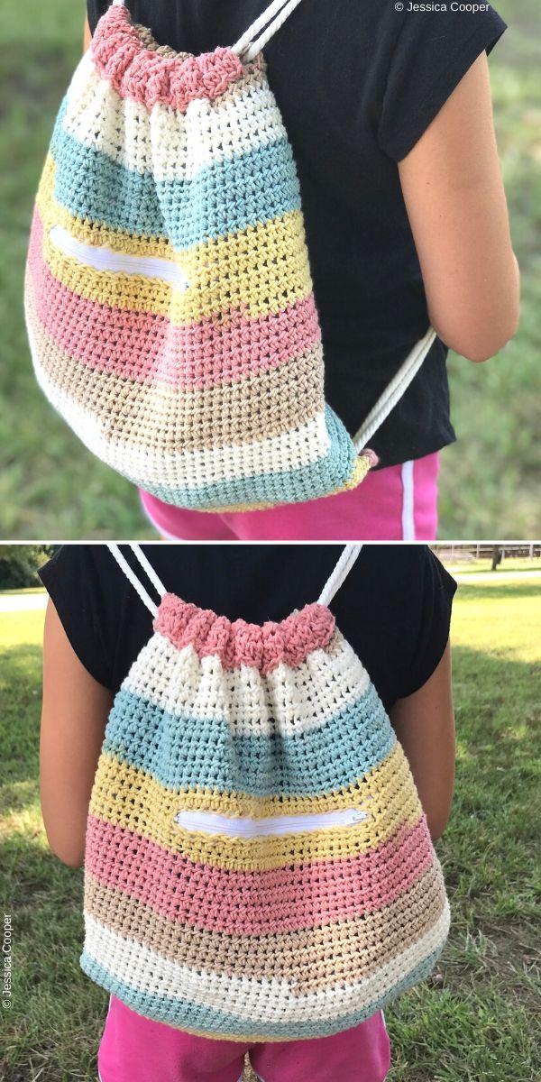 Cinch Sack Free Crochet Pattern