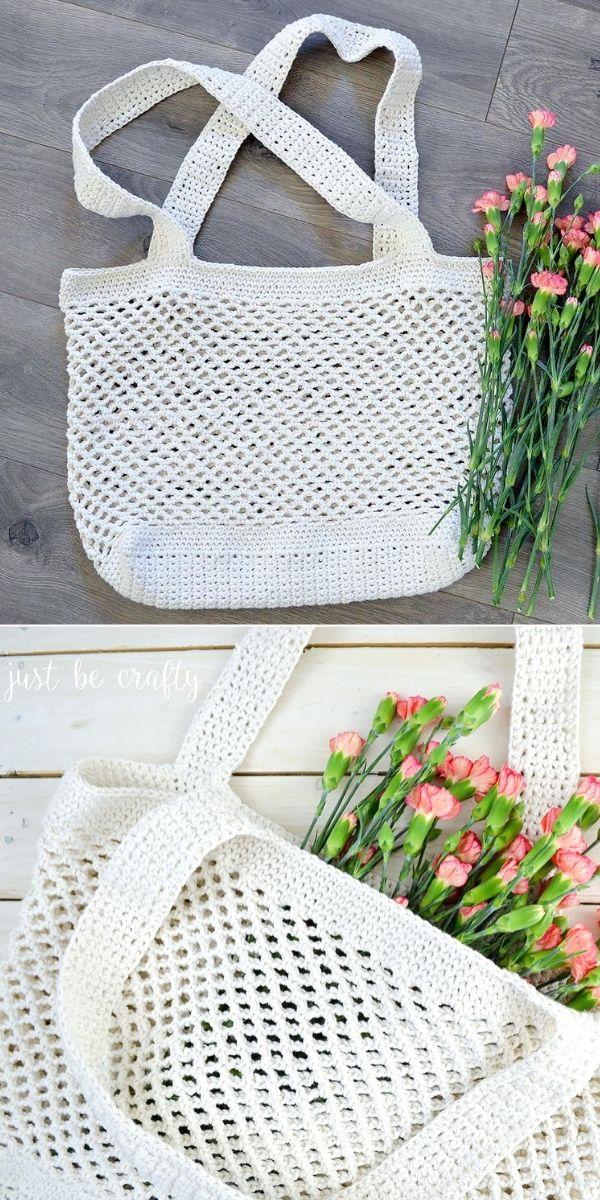 Crochet Farmers Market Bag