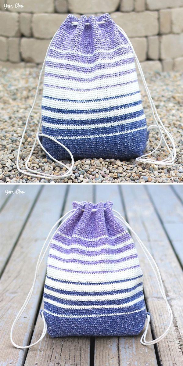 fading Stripes Bag Free Crochet Pattern