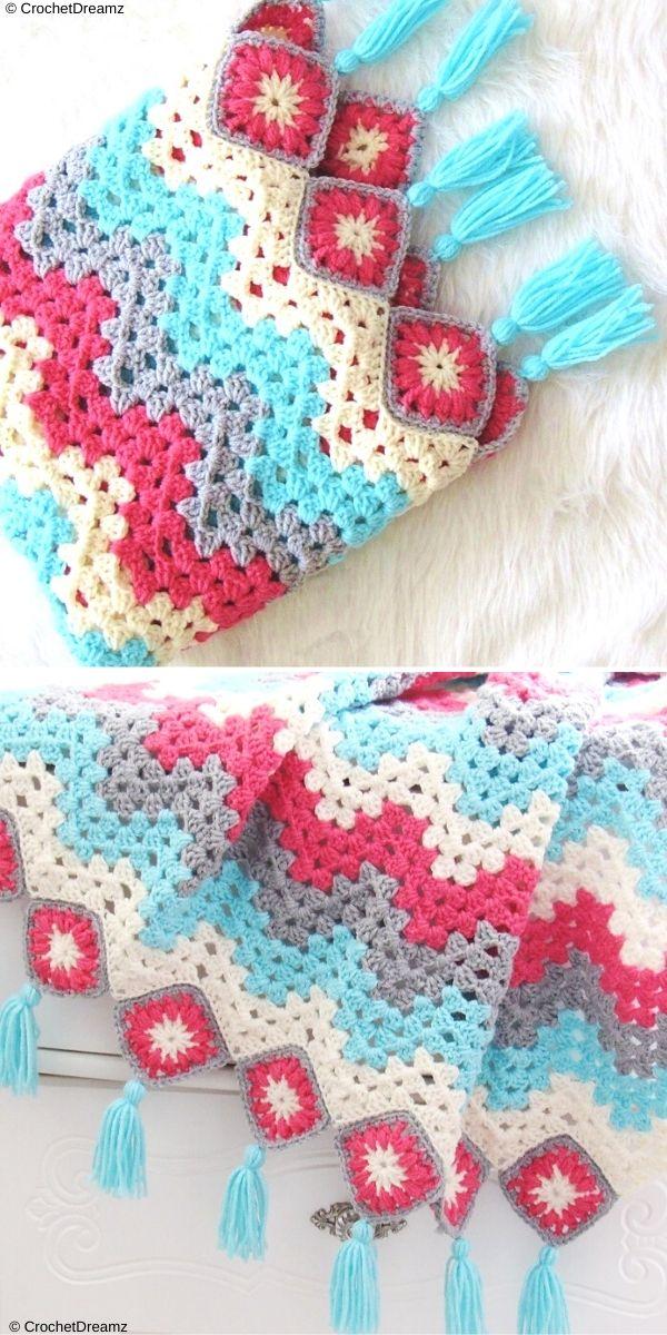 Granny Ripple Afghan Free Crochet Pattern