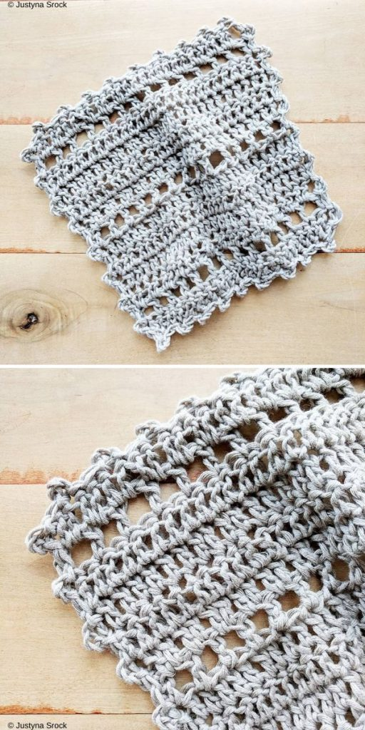 Home Sweet Home Wash Cloth Free Crochet Pattern