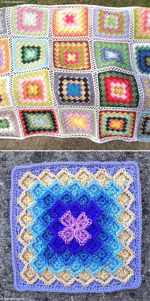 Lush Garden Bavarian Stitch Afghan Free Crochet Pattern