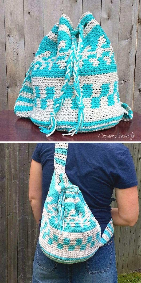 Mochila Bag Free Crochet Pattern