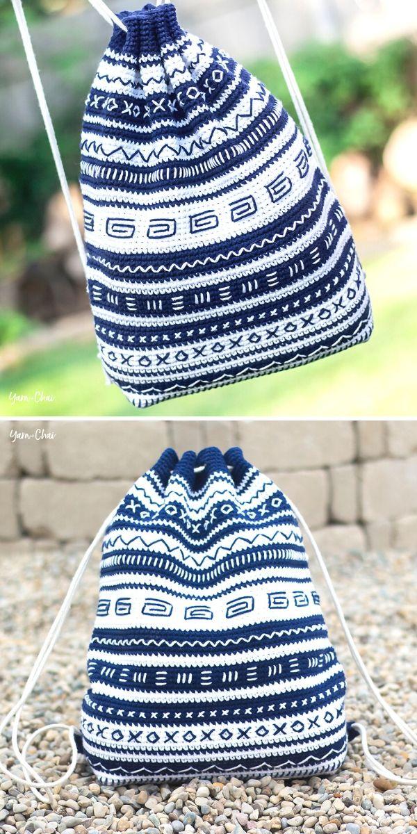 Mudcloth Bag Free Crochet Pattern