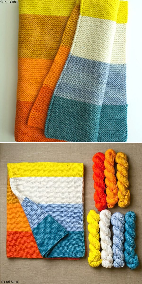 New Super Easy Baby Blanket Free Knitting Pattern