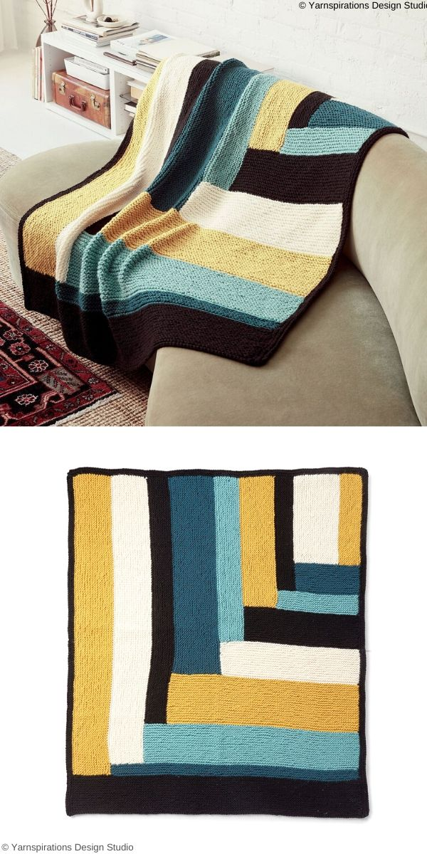 Parquet Pattern Blanket Free Knitting Pattern