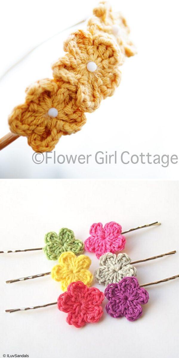 Pearl & Purl Posie Headband Free Crochet Pattern