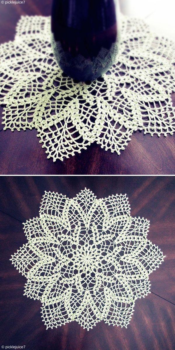 Pond Lily Doily Free Crochet Pattern