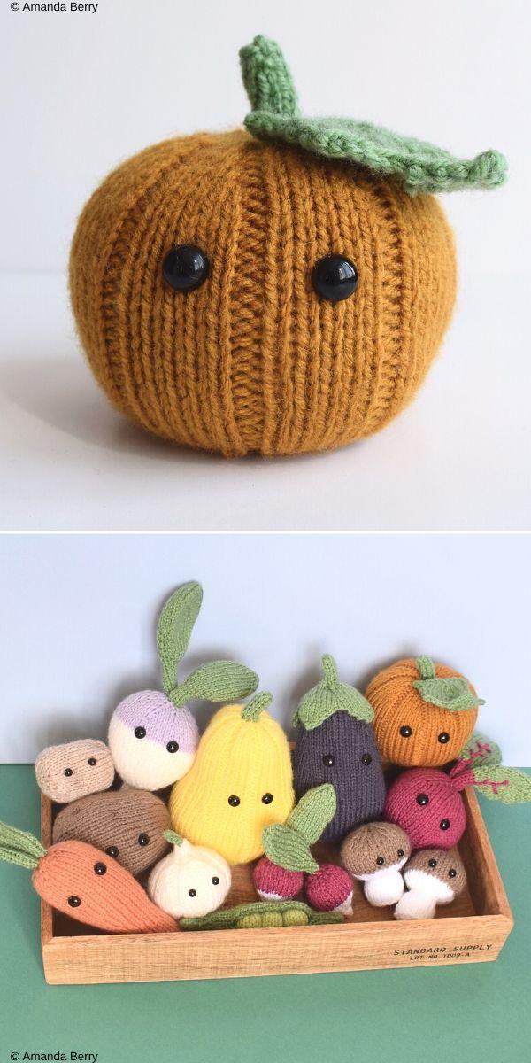 Pumpkin 2 veggies  Free Crochet Pattern