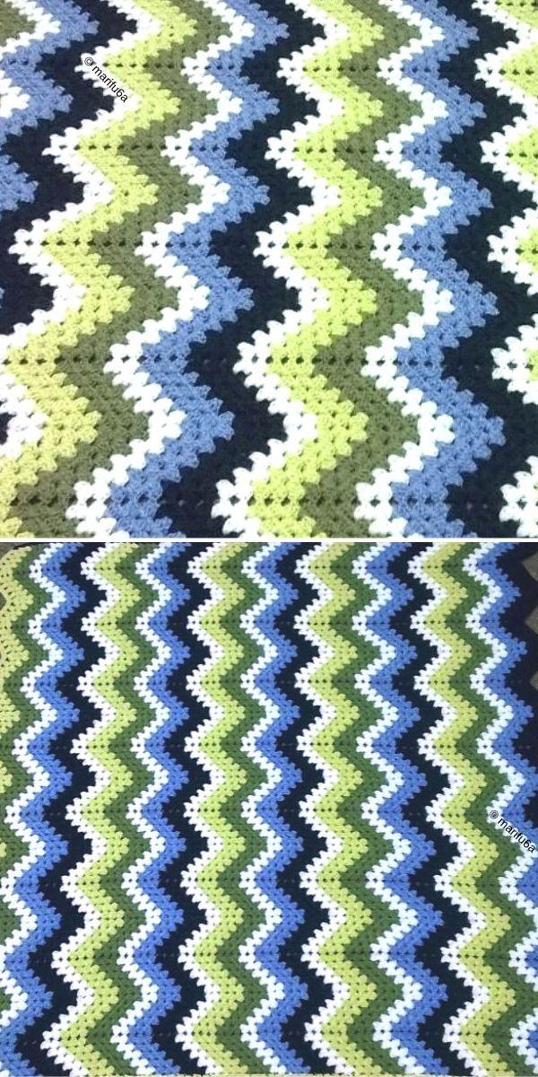 Ripple Granny Blanket Free Crochet Pattern
